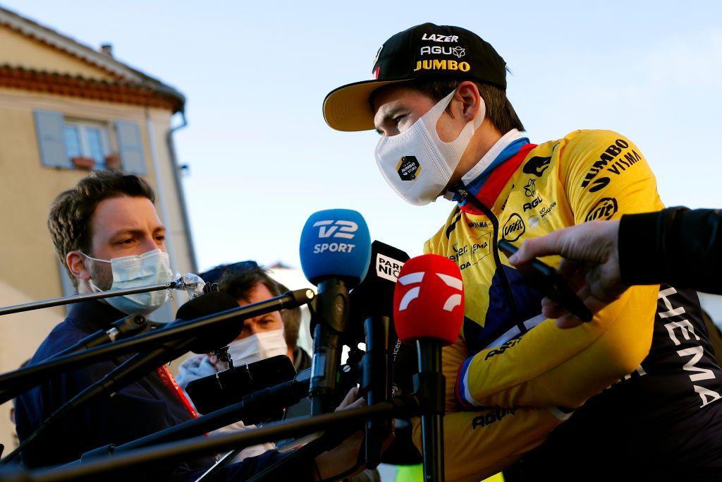 Primoz Roglic suffers dislocated shoulder in Paris-Nice crash