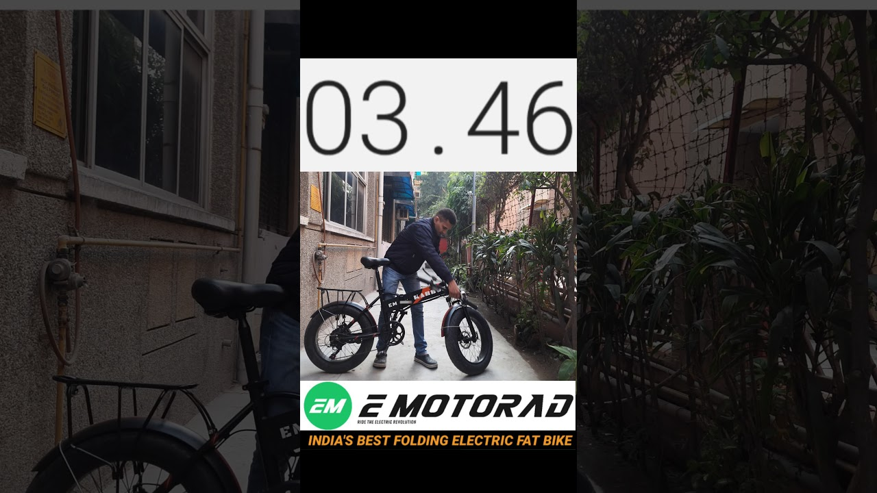 E-Bike Folding Challenge | EMotorad Karbon | India's Best Folding Electric Fat Bike | 📞: 8882434488