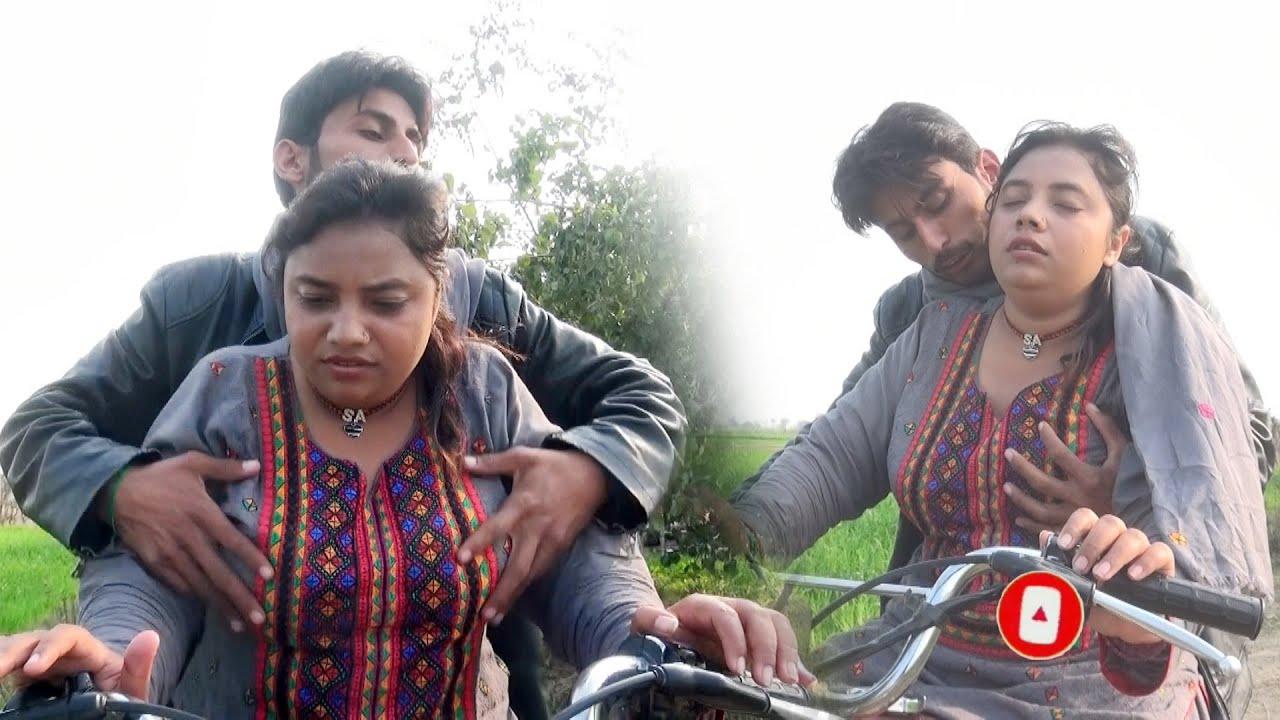 Bike Ridding Vlog   How to Ride Bike in Village Sadaf Ch   Village Life Vlog   Desi Girl Vlog