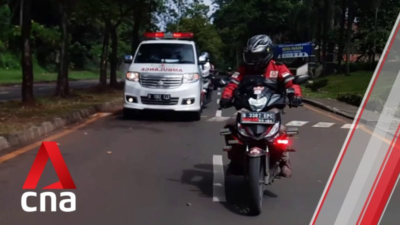 These volunteer bikers escort ambulances through Indonesia's busy roads