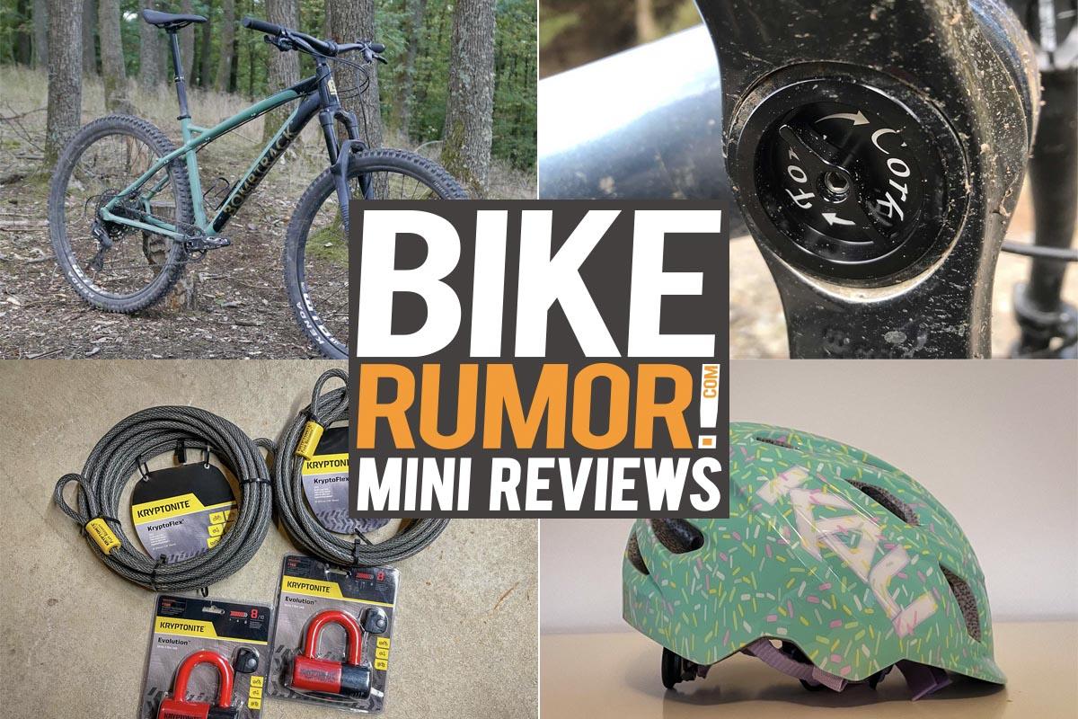 Mini anmeldelser: Fork Cork // Bombtrack Cale AL // Kryptonite Locks // Kali Chakra Child Helmet