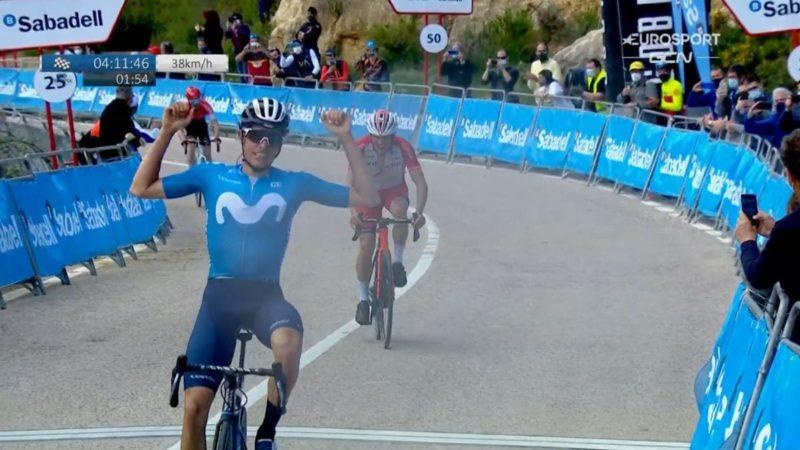 Volta a la Comunitat Valenciana stage 3: Enric Mas outlasts attackers, takes race lead