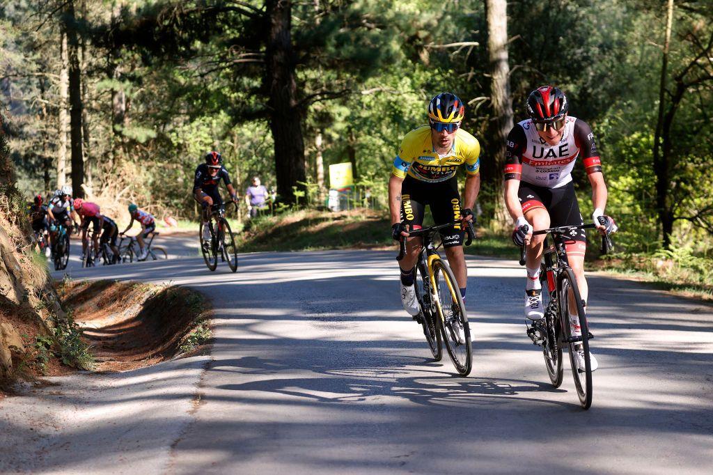 Pogacar gaining on Roglic at Itzulia Basque Country