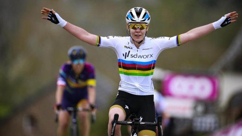 Anna van der Breggen claims seventh consecutive La Flèche Wallonne victory