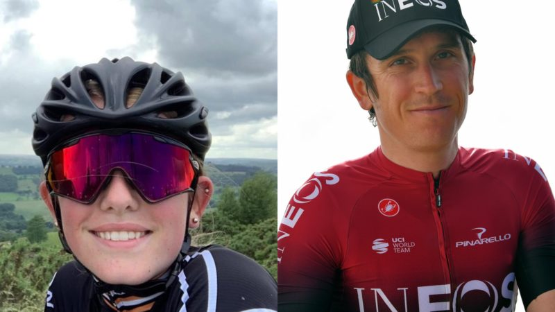 13-year-old cyclist diagnosed with cancer meets her hero Geraint Thomas