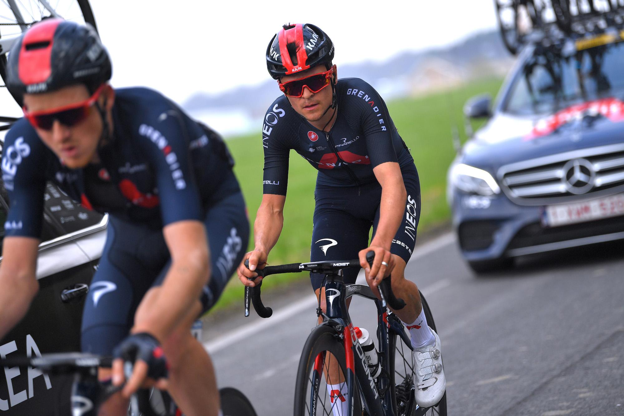 Tom Pidcock, Adam Yates et Tao Geoghegan Hart en tête de l'équipe Ineos Grenadiers Liège-Bastogne-Liège