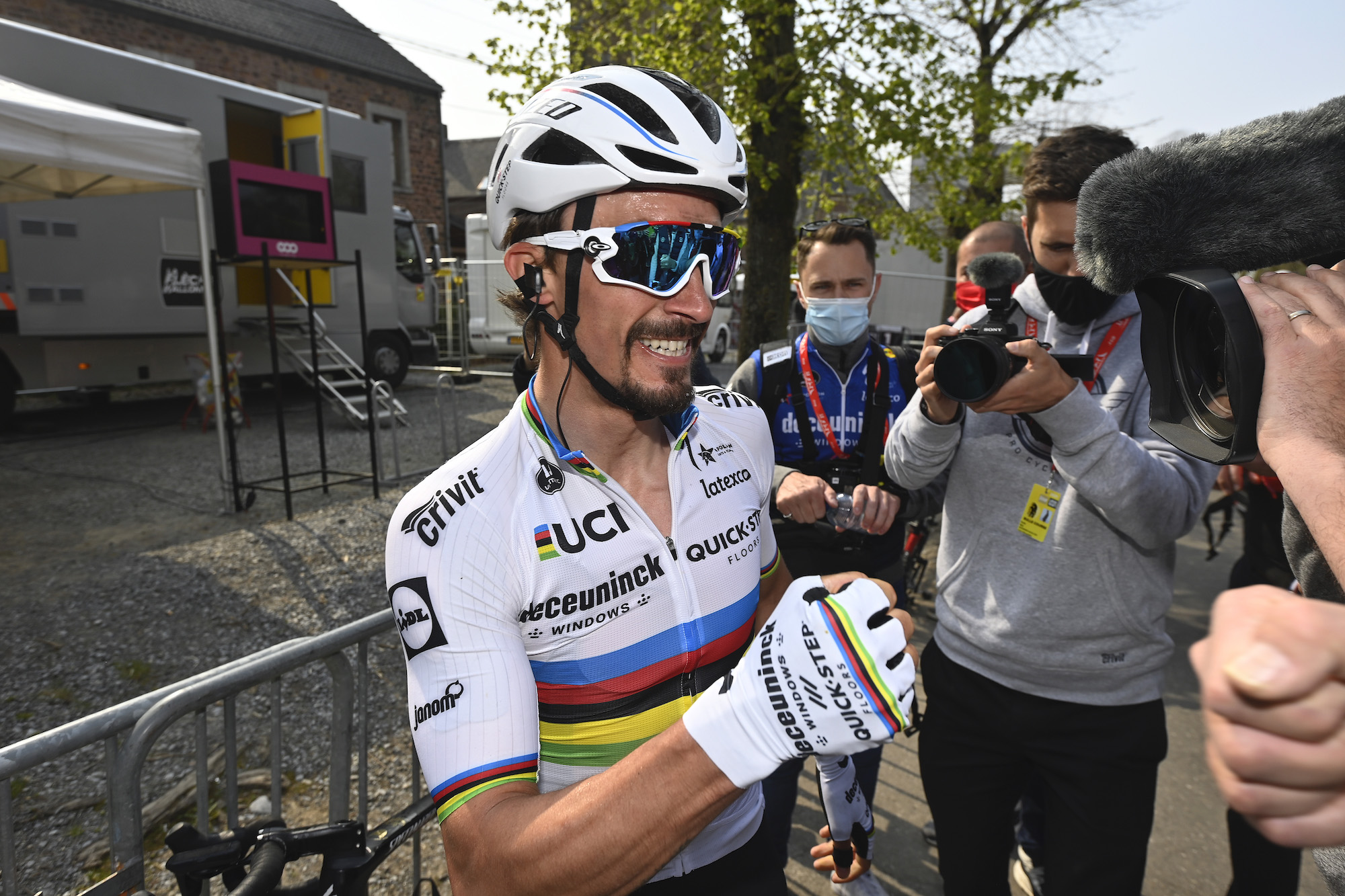 'This one really feels good': Julian Alaphilippe relieved after taking 'important' victory at La Flèche Wallonne 2021