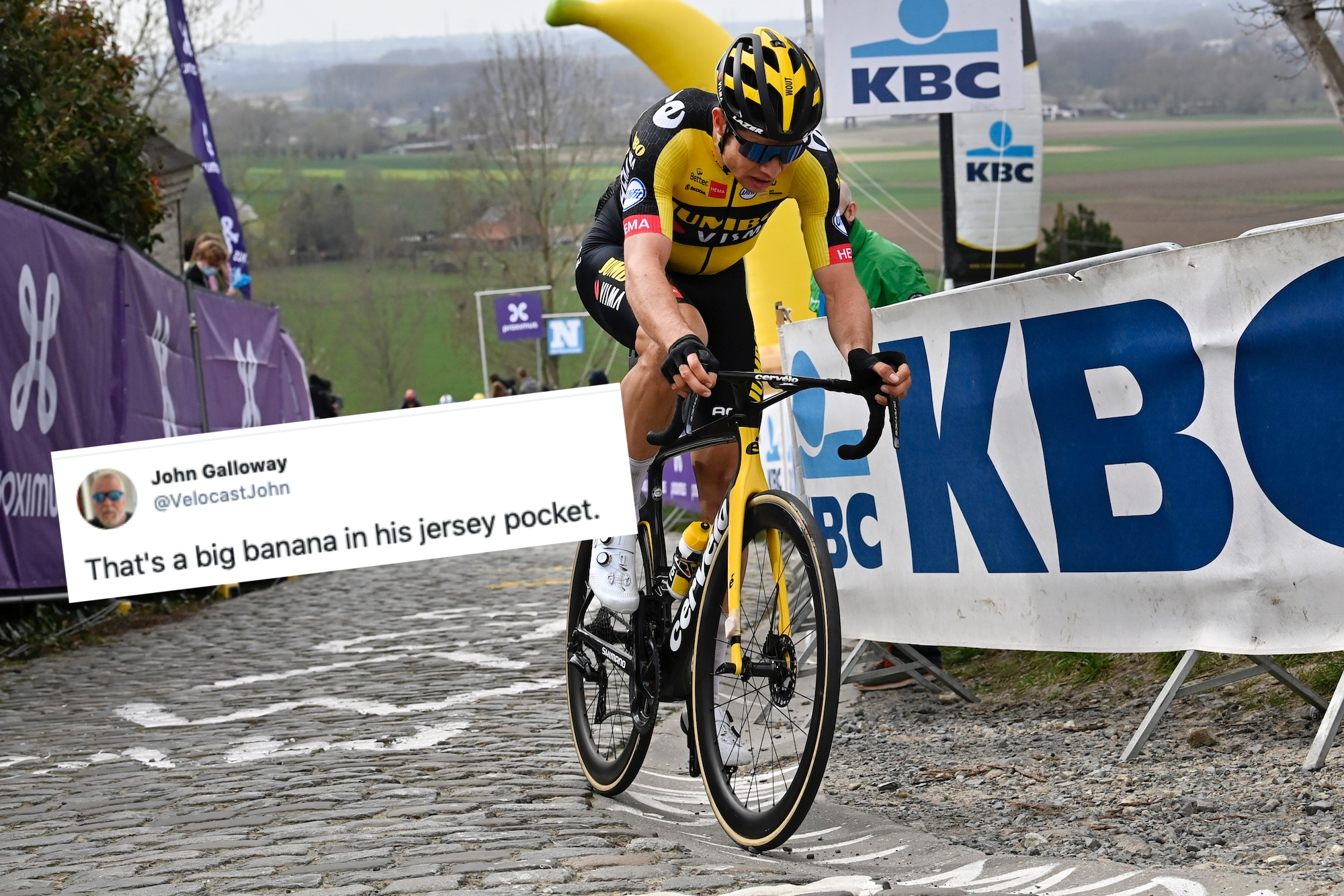 Tweets of the week: the Cavendish comeback, Emma Norsgaard's post-Flanders blues, and Wout van Aert's banana