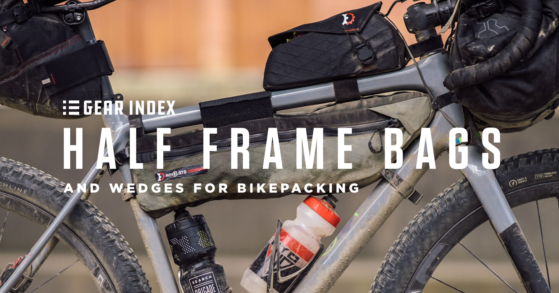 Half Frame Bags and Wedges for Bikepacking