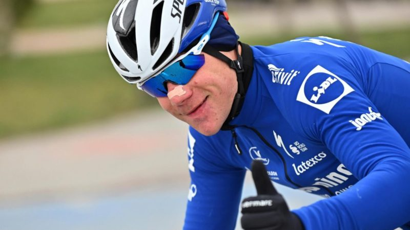 Fabio Jakobsen makes emotional return to racing at Tour of Turkey