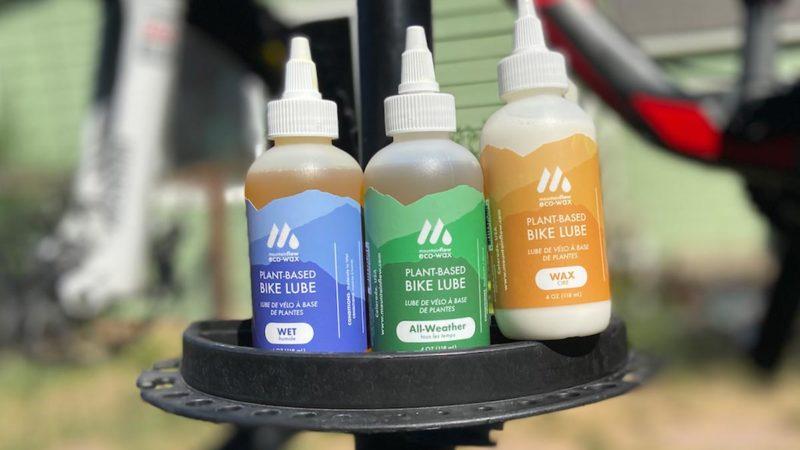 MountainFLOW eco-wax smeermiddelen en schoonmaakproducten voor fietsen zijn 100% plantaardig
