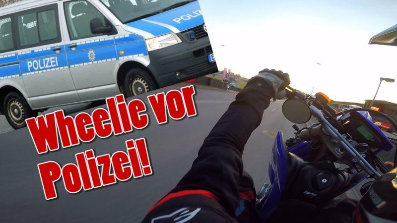 Wheelie in front of Police | Nice Cops vs Biker 2021!