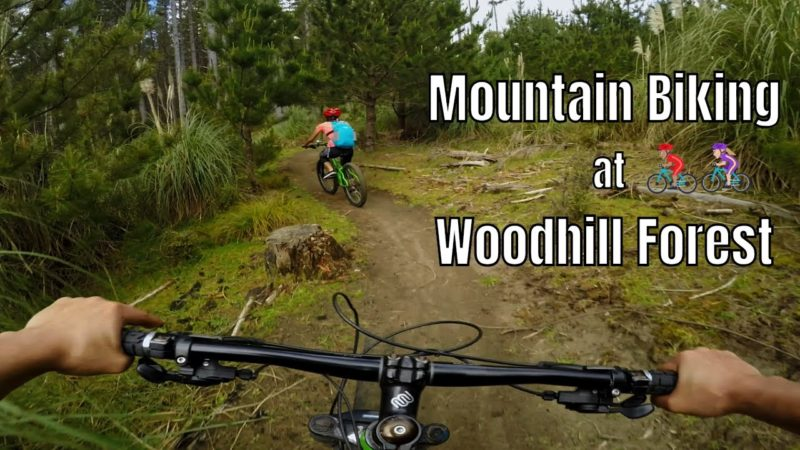 Mountain Biking at Woodhill Forest, New Zealand
