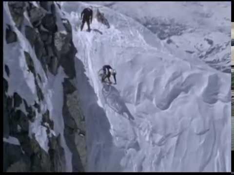 Extreme Snow Downhill Mountain Biking
