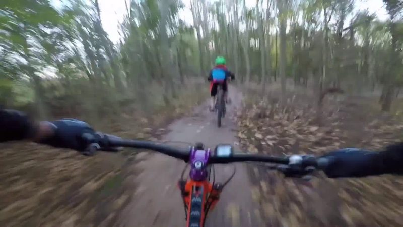 Crazy mountain biking with Joshua. Glapwell Blue Trail