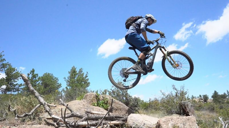 Mountain Biking on The Curt Gowdy Gold Trails