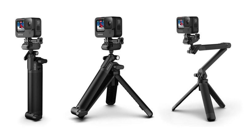 La nouvelle poignée GoPro 3-Way 2.0 se plie dans des positions intéressantes, le nouveau sac à dos est étonnamment bon