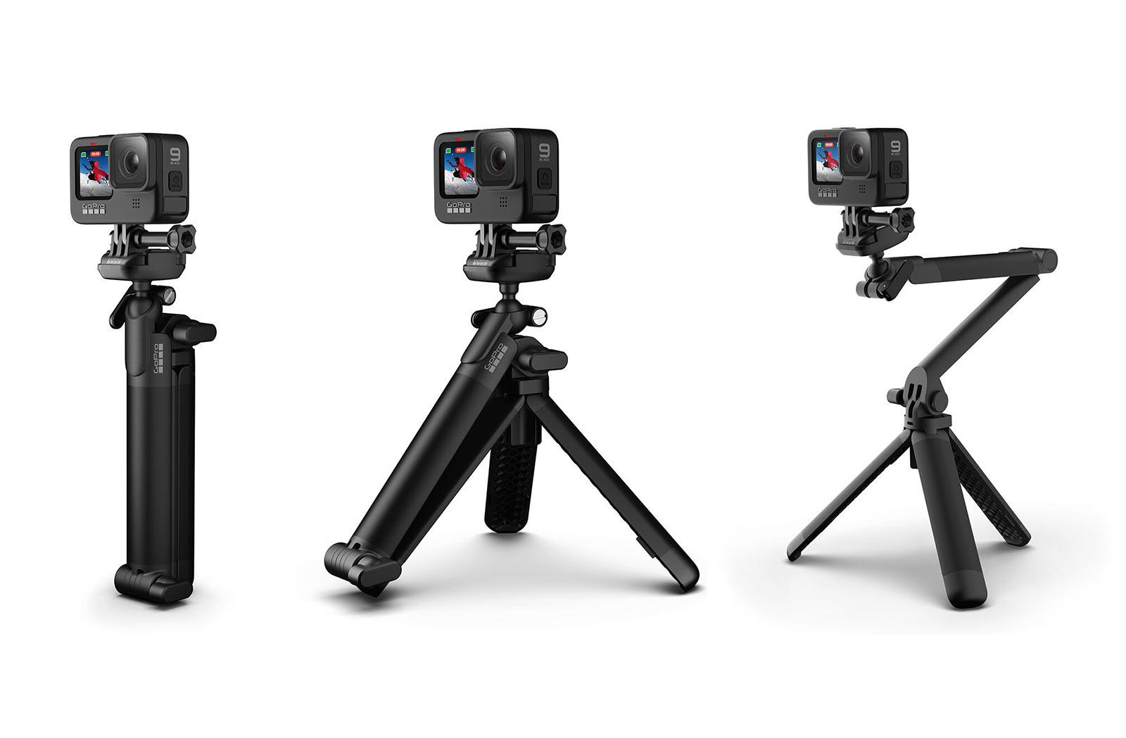 Der neue GoPro 3-Way 2.0 Griff lässt sich in einige interessante Positionen einklappen, der neue Rucksack sieht überraschend gut aus