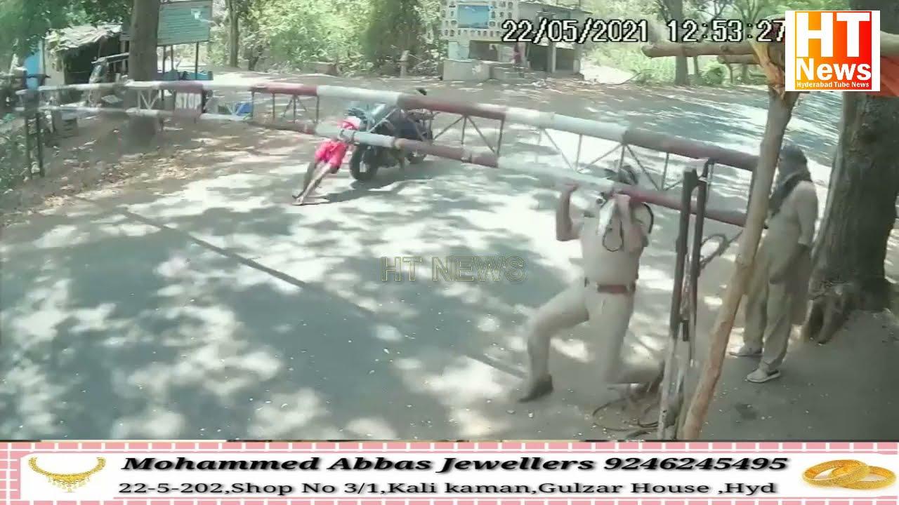 Police Check Post Se Bachne Ki Koshish Bike Rider Lost Life At Adilabad Telangana