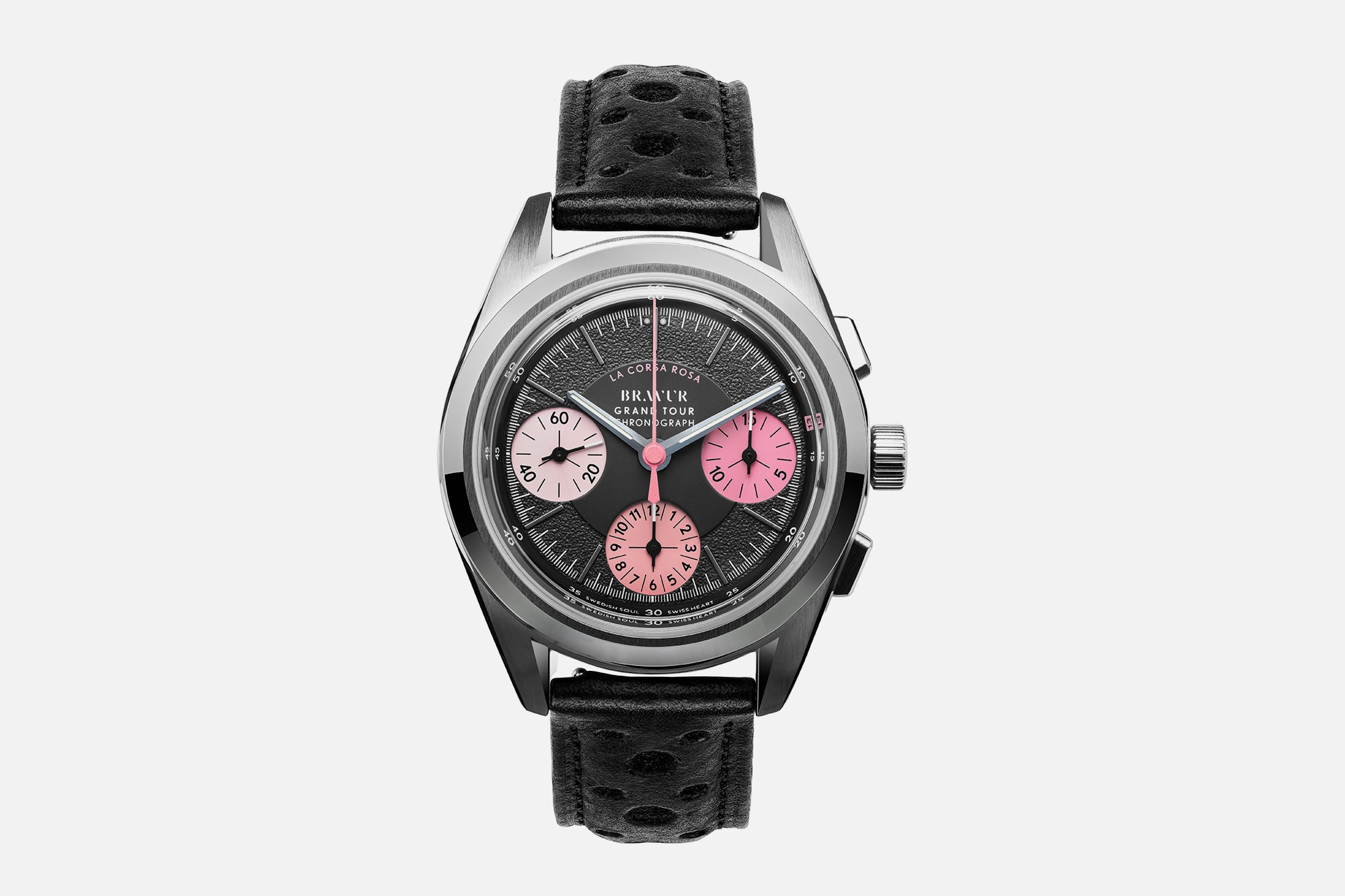 Watch-watch: Det svenske mærke Bravur frigiver smuk lyserød Giro-tema ur