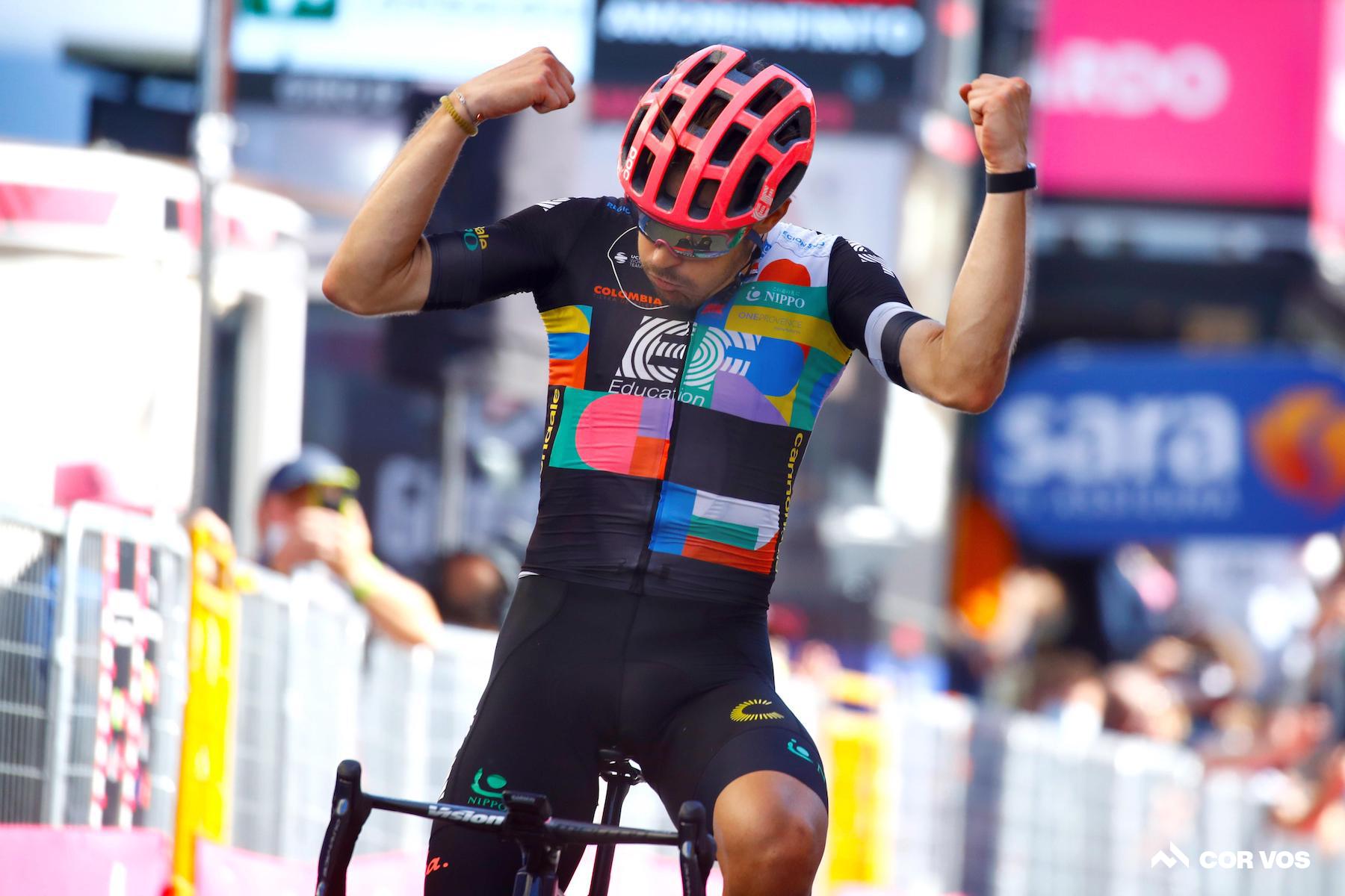 Bettiol vince la 18a tappa del Giro d'Italia dalla fuga