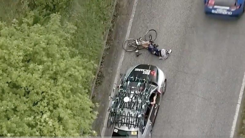 Holdbilchauffør rammer Pieter Serry bagfra