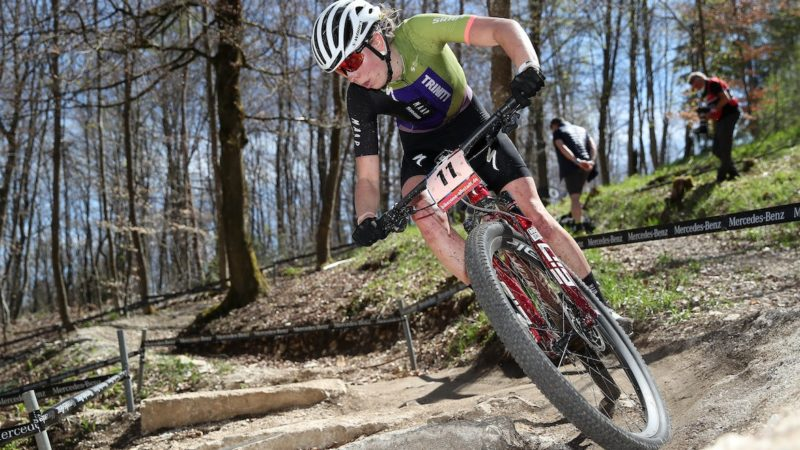 Dentro il podio di Haley Batten all'Albstadt MTB World Cup