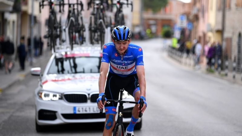Dombrowski heads to hospital after late, hard crash in Giro d'Italia