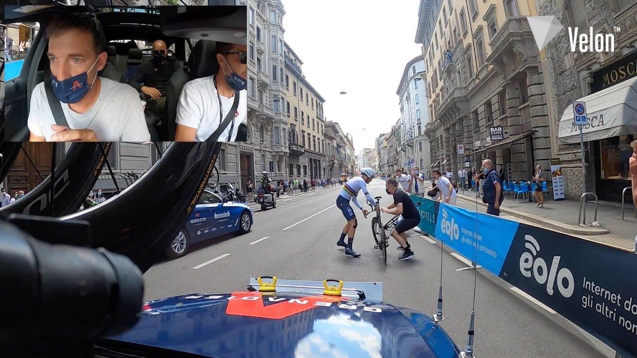 Giro d'Italia 2021: Stage 21 INEOS Grenadiers Filippo Ganna ITT Bike Change