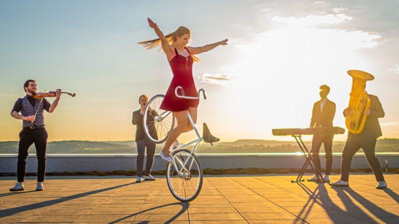 Wonderful Music meets INCREDIBLE bike tricks ❤️ poetry in motion