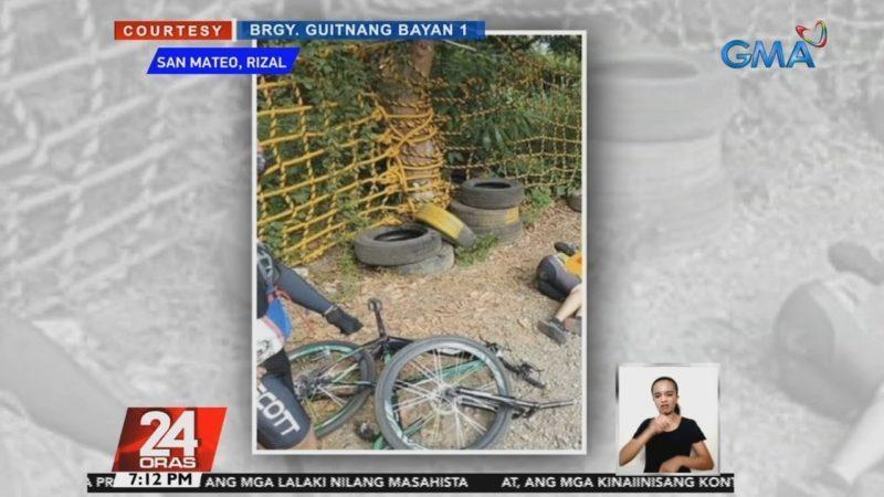 Biker, nagdire-diretso at bumangga sa safety net ng pakurbang kalsada | 24 Oras