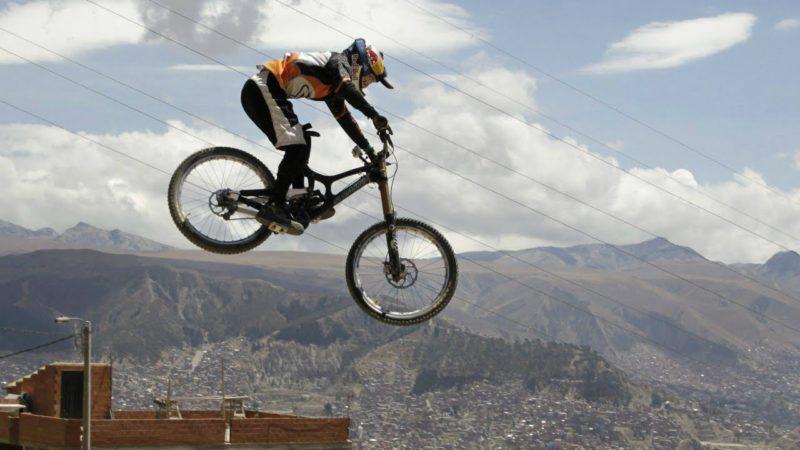 Extreme Downhill Mountain Biking