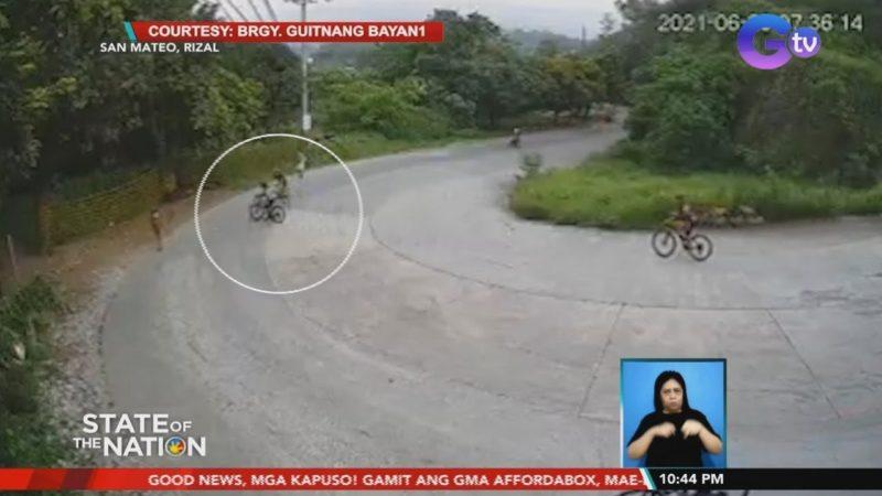 Biker, sugatan matapos dumeretso sa pakurbang bahagi ng kalsada | SONA