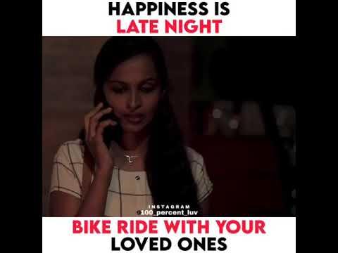 Bike Ride With Loved One 🤩 Cute Love Status 🤩 Cute Couple Status 🙂 Tamil Whatsapp Status 🤩 True Love