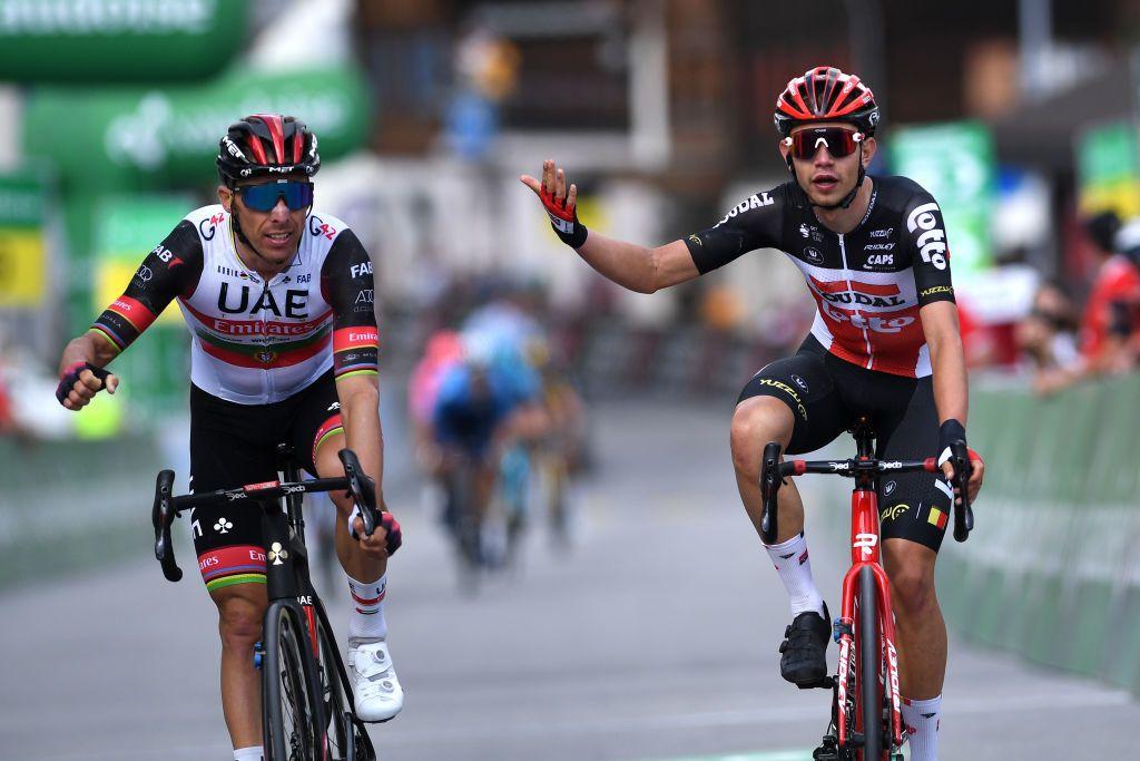 Rui Costa relegated in Tour de Suisse stage 6 sprint