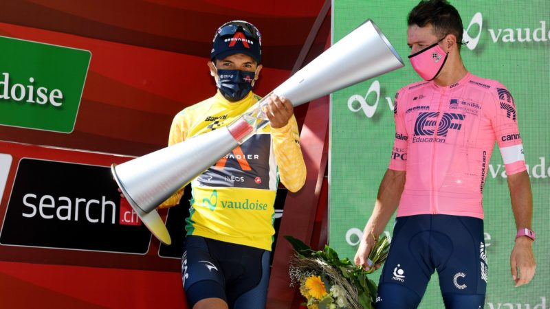 Tour de Suisse: Richard Carapaz secures overall as Gino Mäder sprints to final stage win
