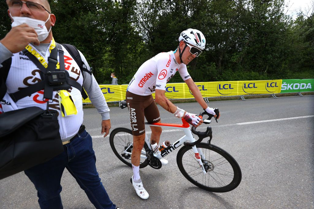 AG2R Citroen to get up and fight at Tour de France after crashes hit hard