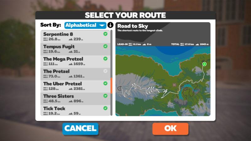 La actualización de Zwift ofrece un mejor seguimiento y planificación de las insignias de ruta