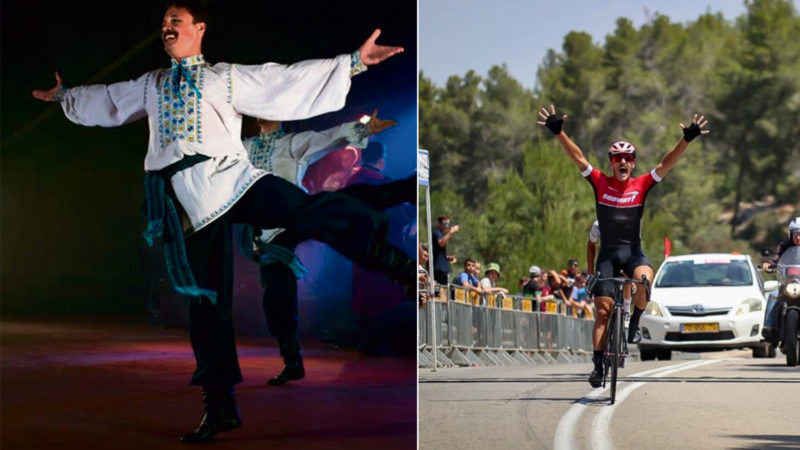 Il ballerino folk che ha appena vinto un titolo nazionale di ciclismo su strada