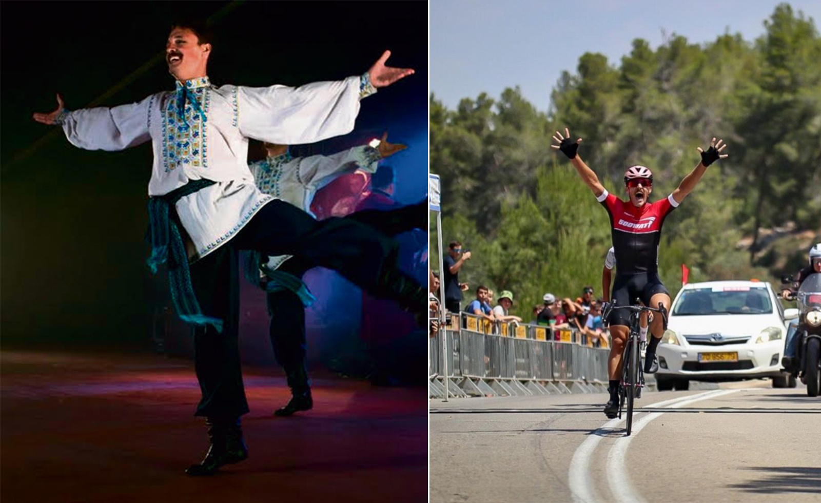 The folk dancer who just won a national road cycling title
