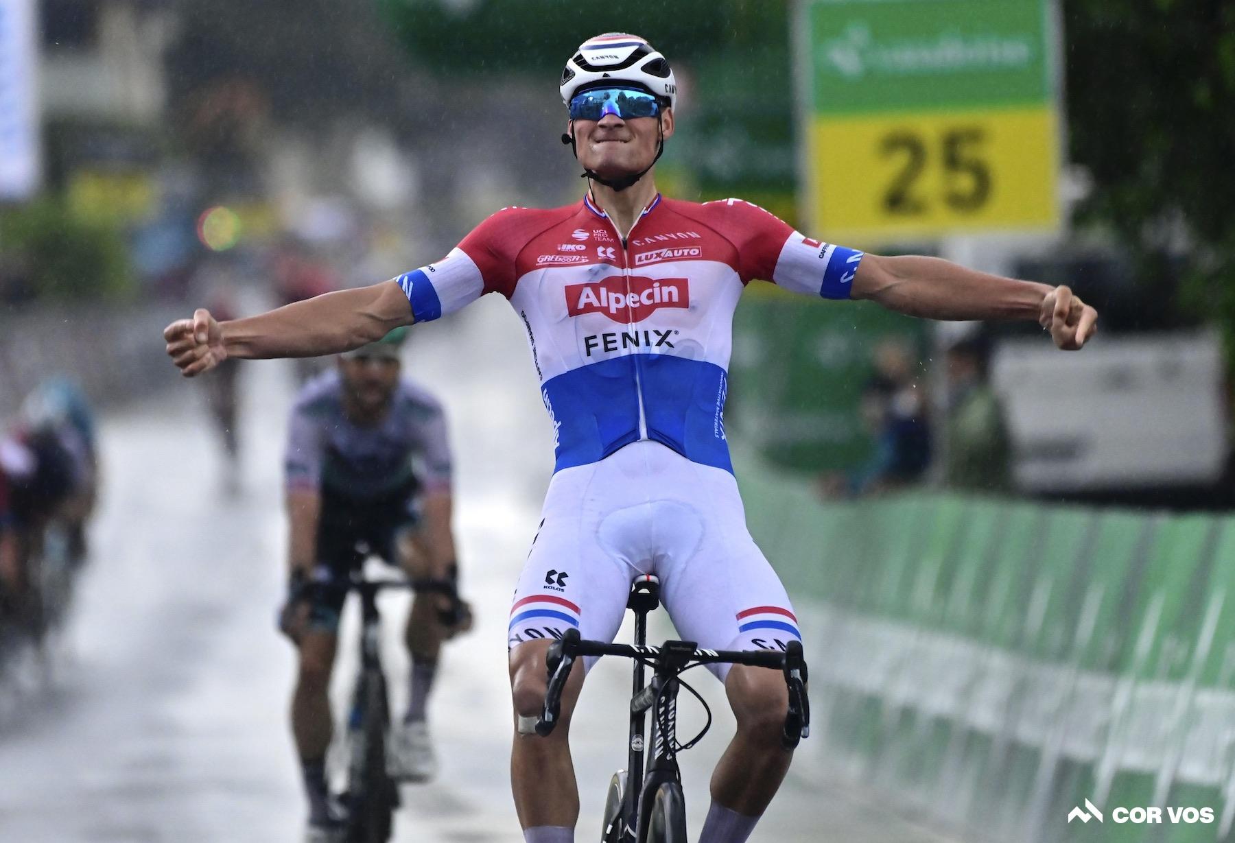 Mathieu van der Poel wint etappe 2 Tour de Suisse