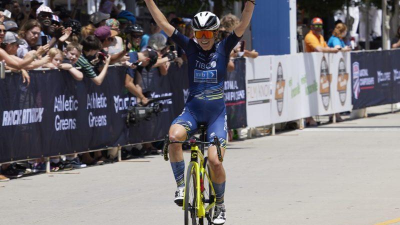 Lauren Stephens wint Amerikaanse wegtitel bij vrouwen