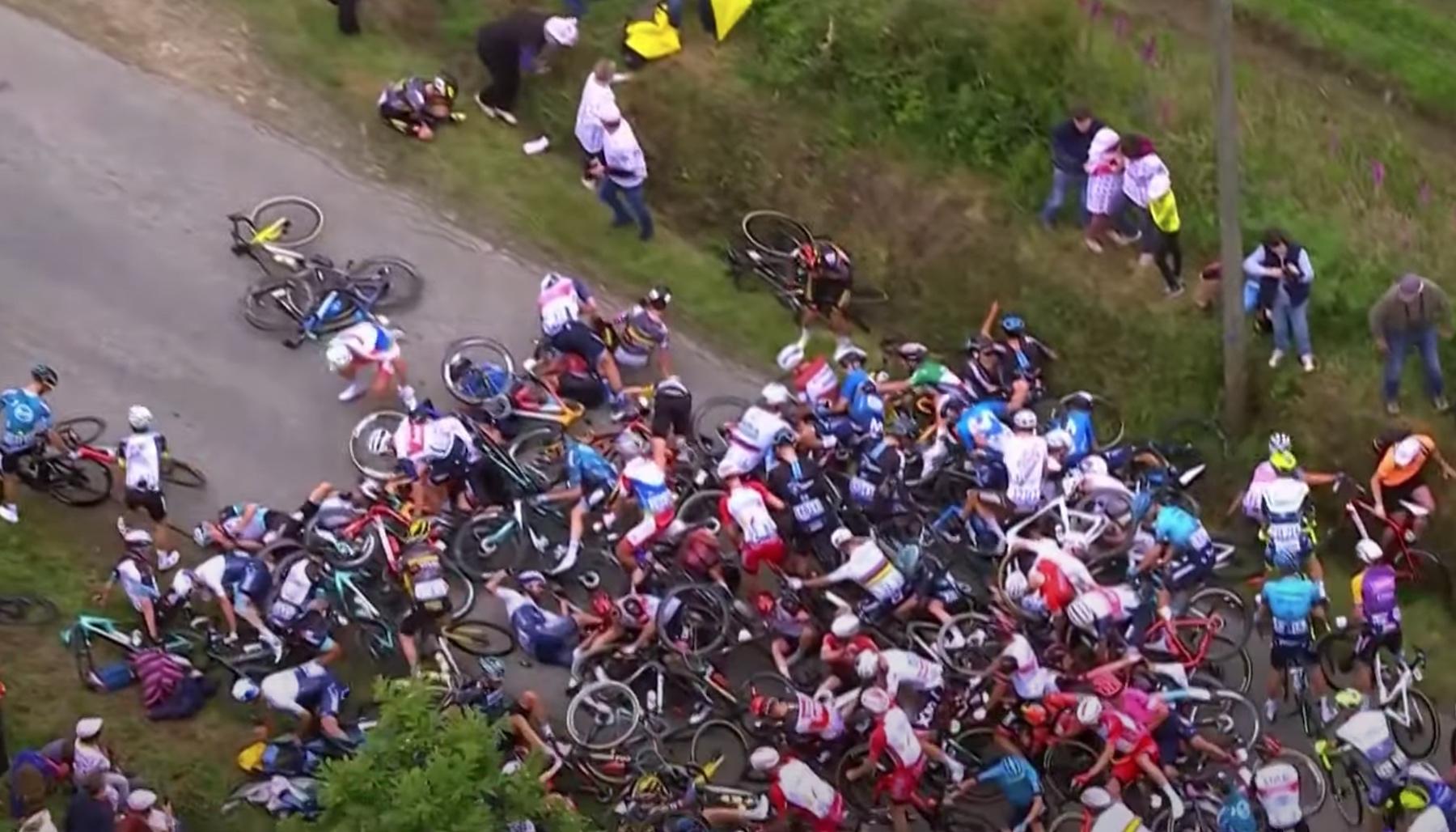 ASO reicht Beschwerde gegen Zuschauer ein, der auf der Eröffnungsphase der Tour einen Unfall verursacht hat