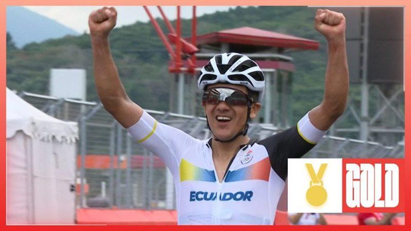 Tokyo Olympics: Richard Carapaz of Ecuador wins road race gold ahead of Wout van Aert
