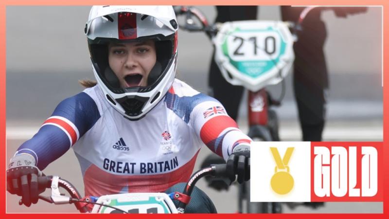 Jeux olympiques de Tokyo : Bethany Shriever remporte l'or pour GB en finale de BMX femmes