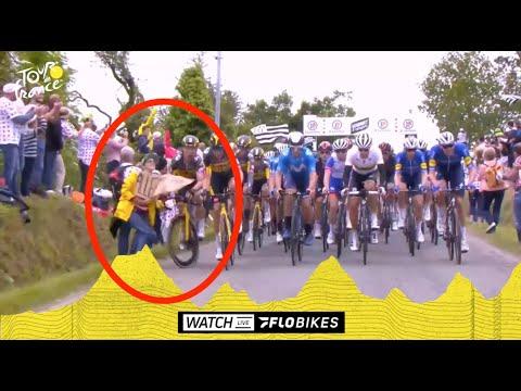 Spectator Causes Entire Peloton To Crash At Tour de France