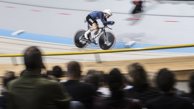Ashton Lambie will attempt to break the four-minute pursuit barrier