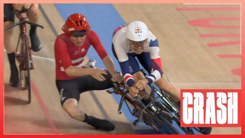Tokyo Olympics: GB and Denmark collide in men's team pursuit
