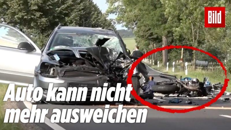 Biker kracht frontal in Auto – tot | Hessen