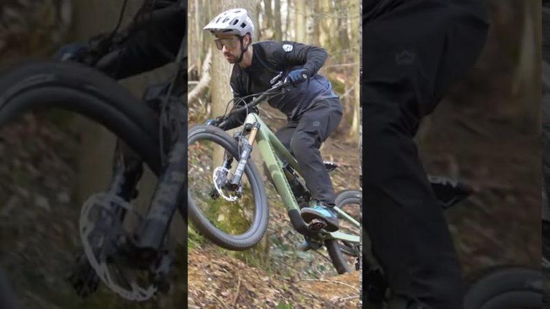 Mountain Biking In Slow Motion #shorts